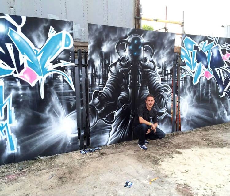Streetfest streetart by Dan DANK Kitchener