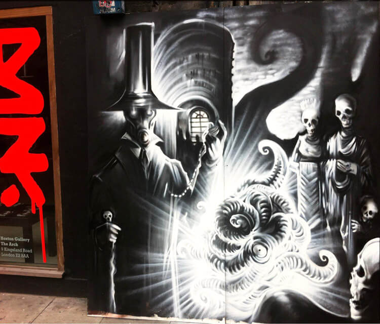 The Apparition streetart by Dan DANK Kitchener