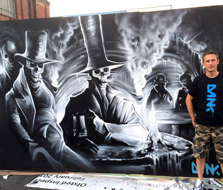 The Vaults Urban Shakedown streetart by Dan DANK Kitchener