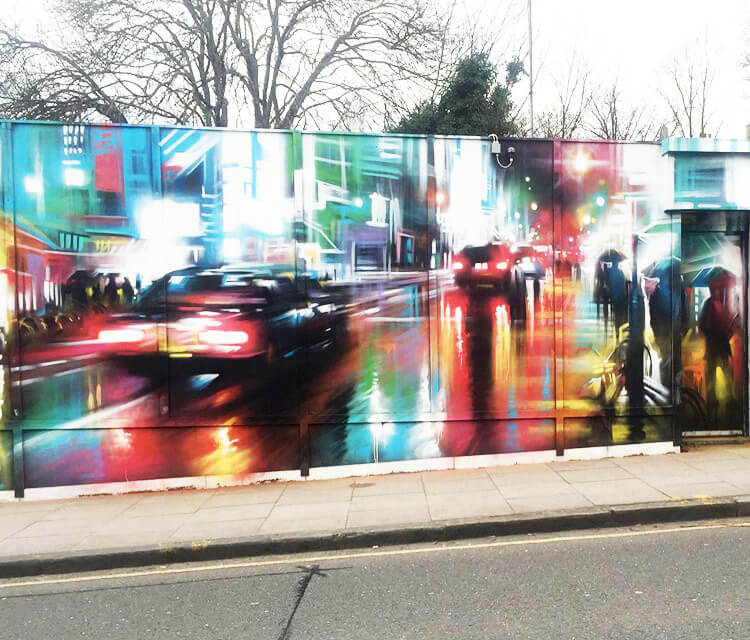 Tokye Pursuit streetart by Dan DANK Kitchener