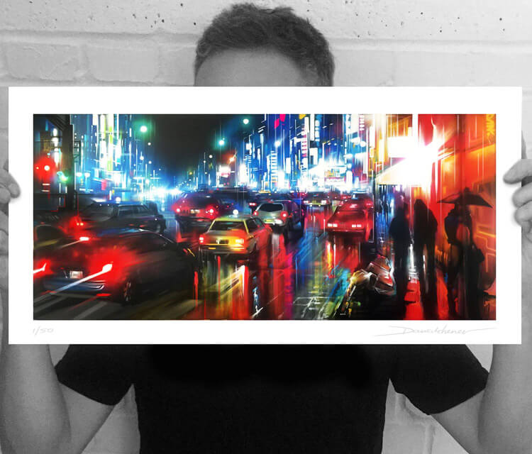 Tokyo Rush Limited edition mixedmedia by Dan DANK Kitchener