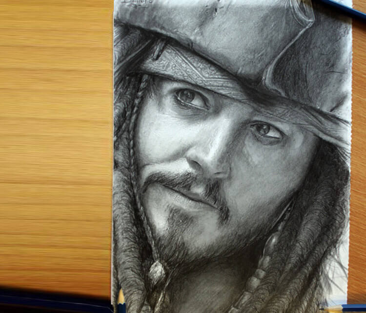 Jack Sparrow drawing by Dino Tomic