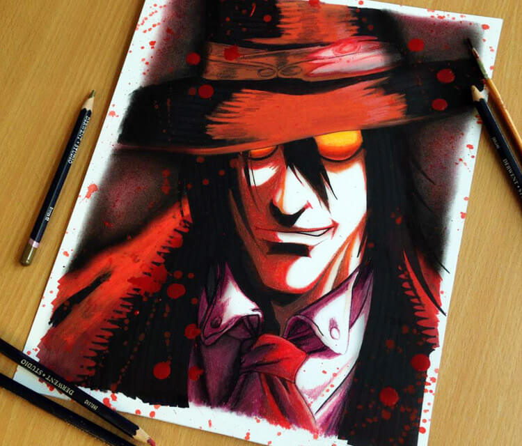 Alucard portrait drawing by Dino Tomic