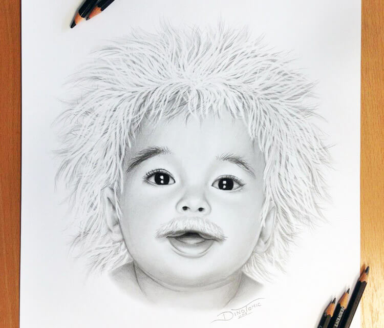 Baby Einstein drawing by Dino Tomic