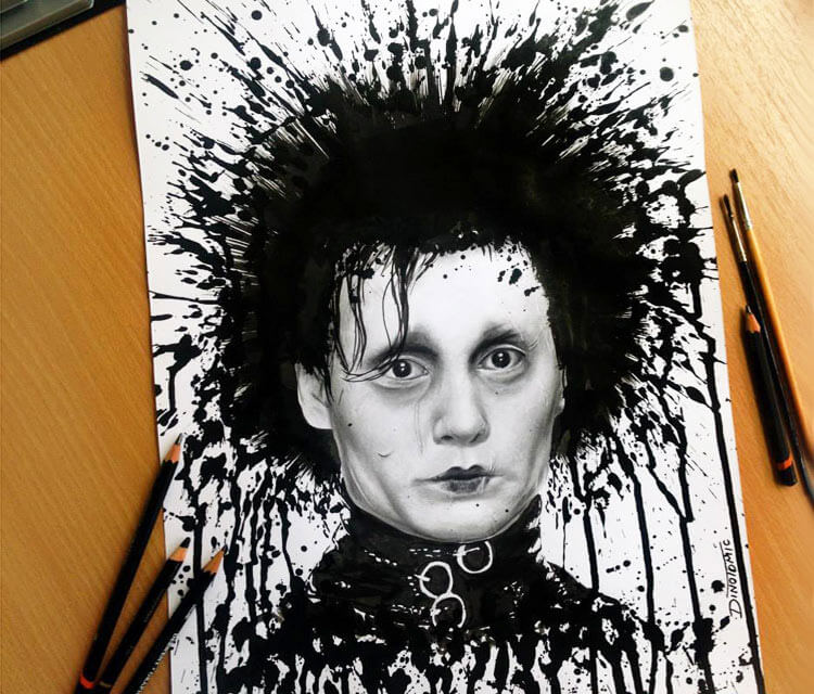 Edward Scissorhands drawing by Dino Tomic