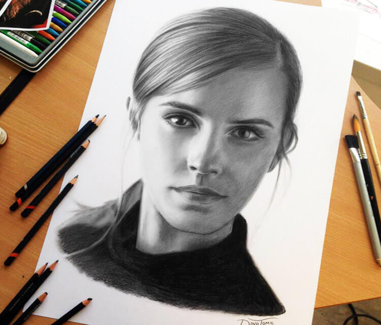 Emma Watson drawing by Dino Tomic