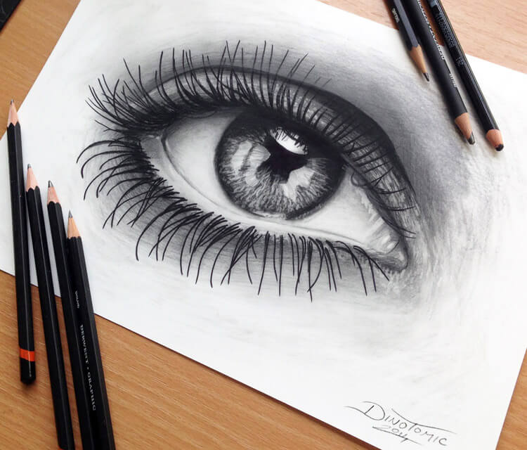Black eye drawing by Dino Tomic