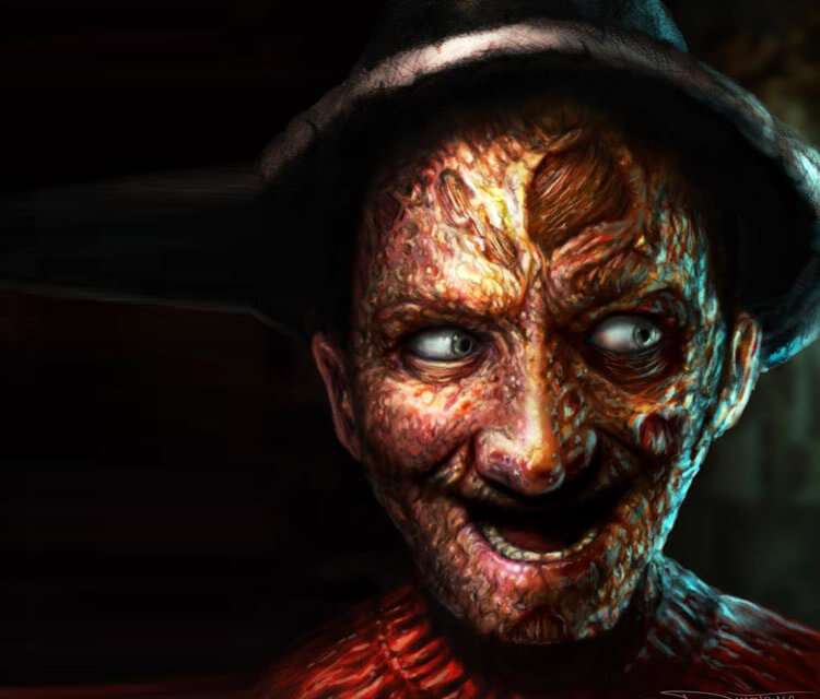 Freddy Krueger portrait drawing by Dino Tomic