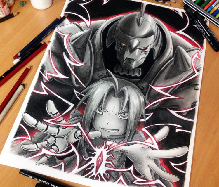 Fullmetal Alchemist color drawing by Dino Tomic