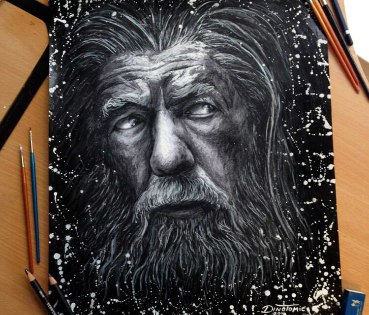 Gandalf pencil drawing by Dino Tomic