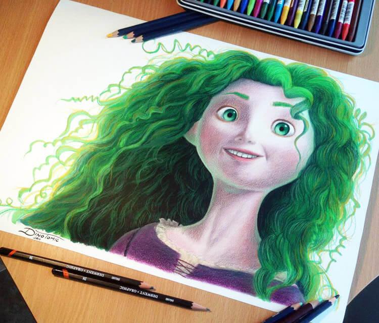 Green hair Merida by Dino Tomic