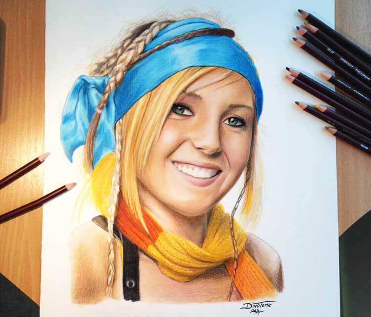 Jessica Nigri portrait by Dino Tomic