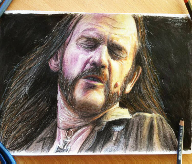 Lemmy Young drawing by Dino Tomic