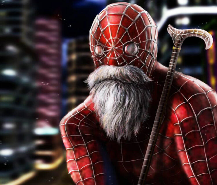 Old spider man drawing by Dino Tomic