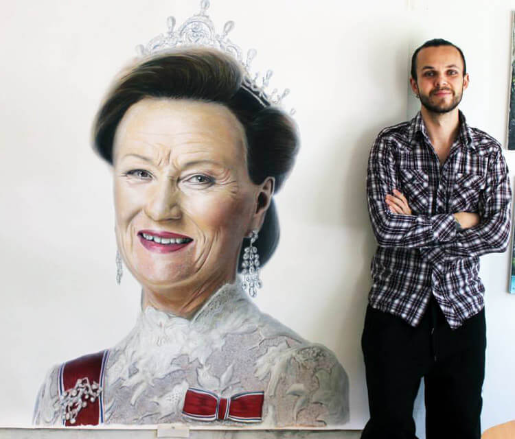 Queen Sonja of Norway mixedmedia by Dino Tomic