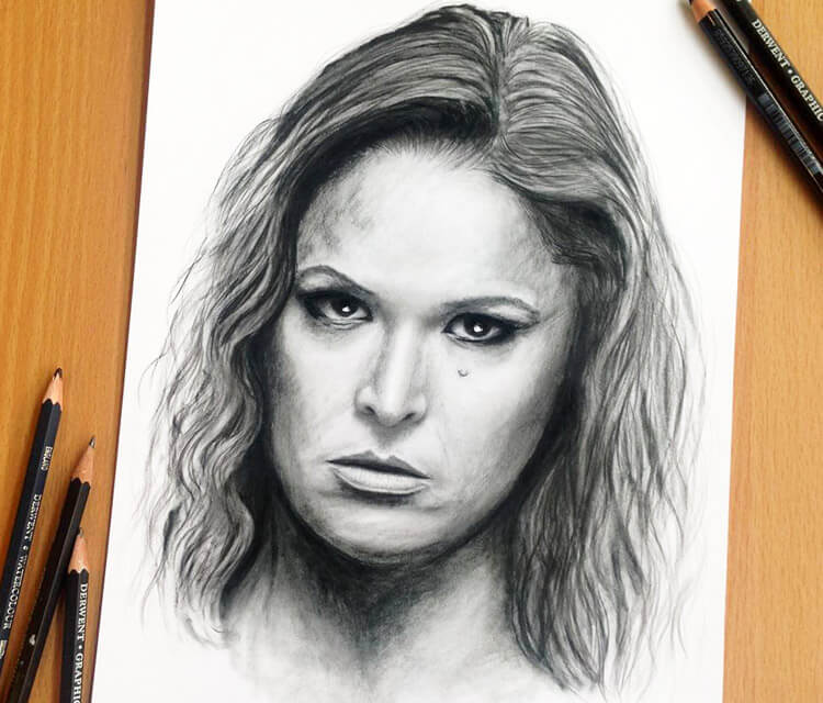 Ronda Rousey drawing by Dino Tomic