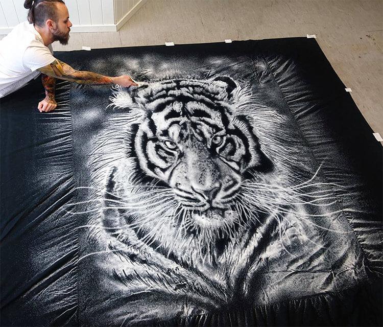 Salt Tiger drawing by Dino Tomic