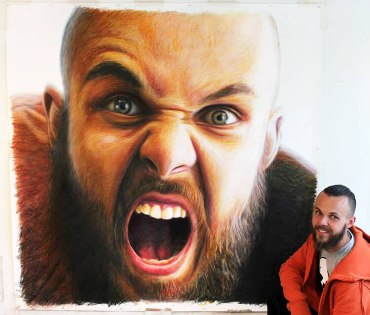 Self portrait Mixed media by Dino Tomic
