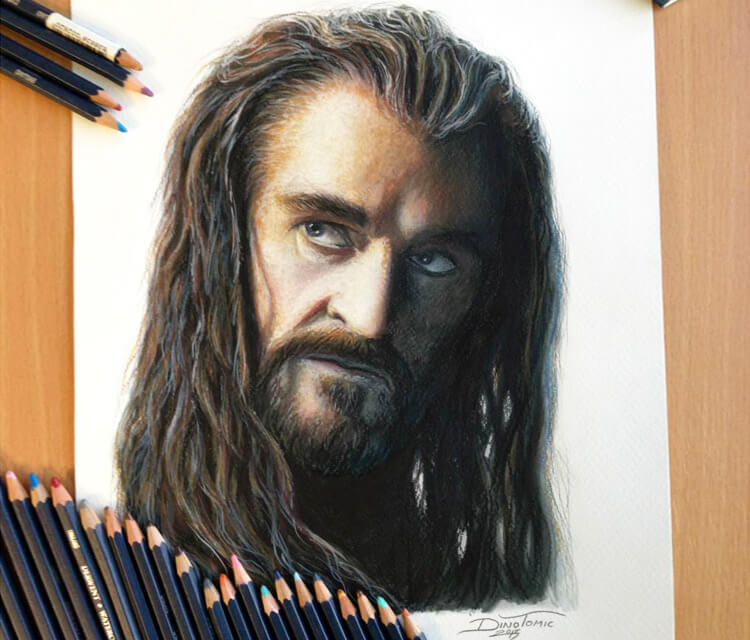 Thorin color drawing by Dino Tomic
