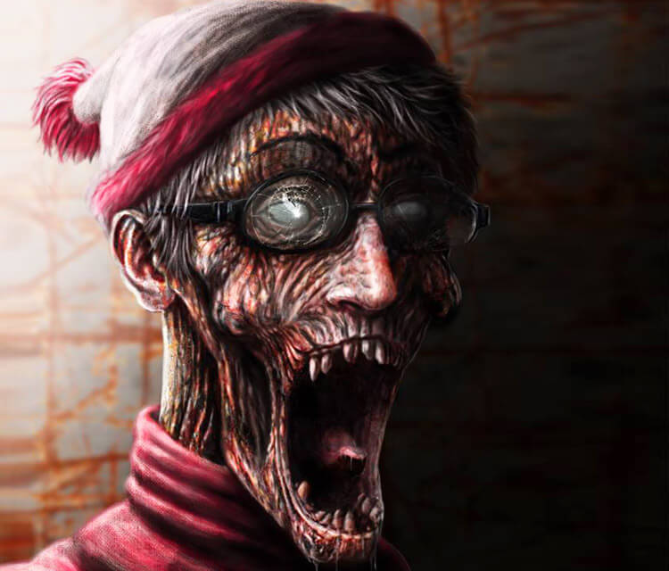 Waldo Zombie digitalart by Dino Tomic