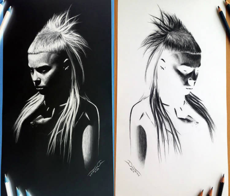 Yolandi Visser sketch drawing by Dino Tomic