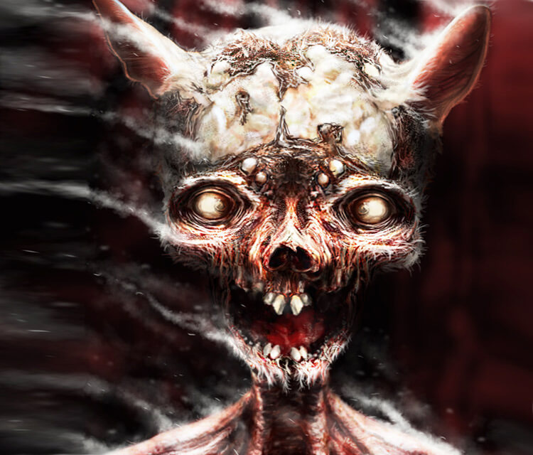 Zombie rat digital art by Dino Tomic