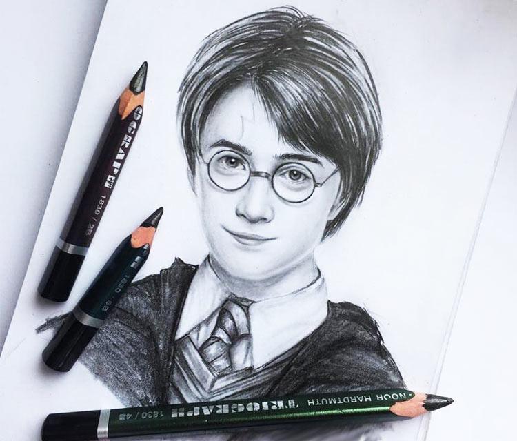 Harry Potter Pencil Drawing By Elienka Art
