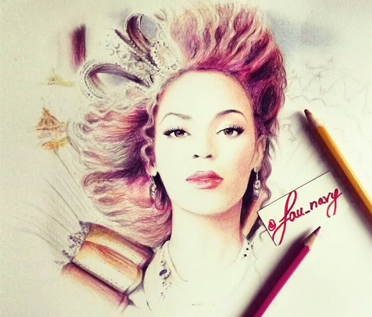 Beyonce color drawing by Fau Navy