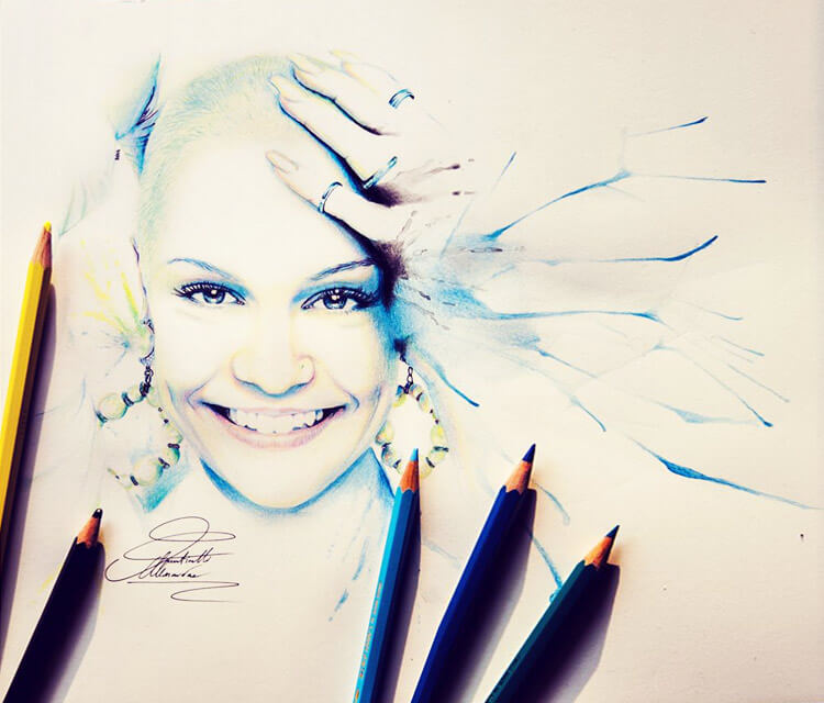 Jessie J color drawing by Fau Navy