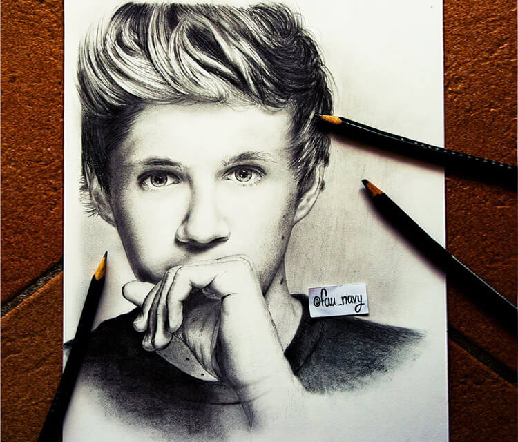 Nial Horan drawing by Fau Navy