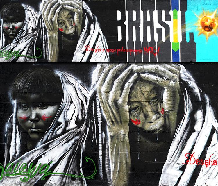 Brasil challenges streetart by Fhero Art