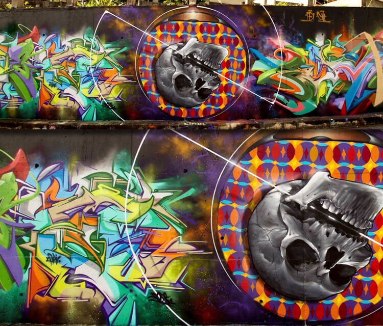 cooperation graffiti by Fhero Art