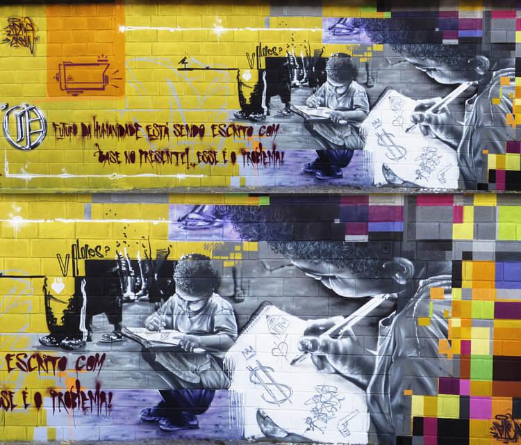 Education graffiti by Fhero Art