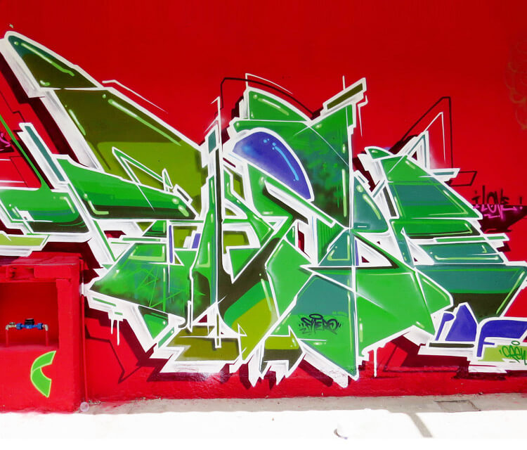 Graffiti wall graffiti by Fhero Art