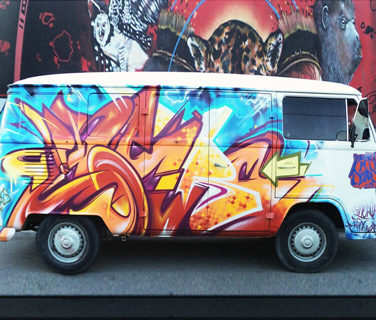Konbi Van graffiti by Fhero Art