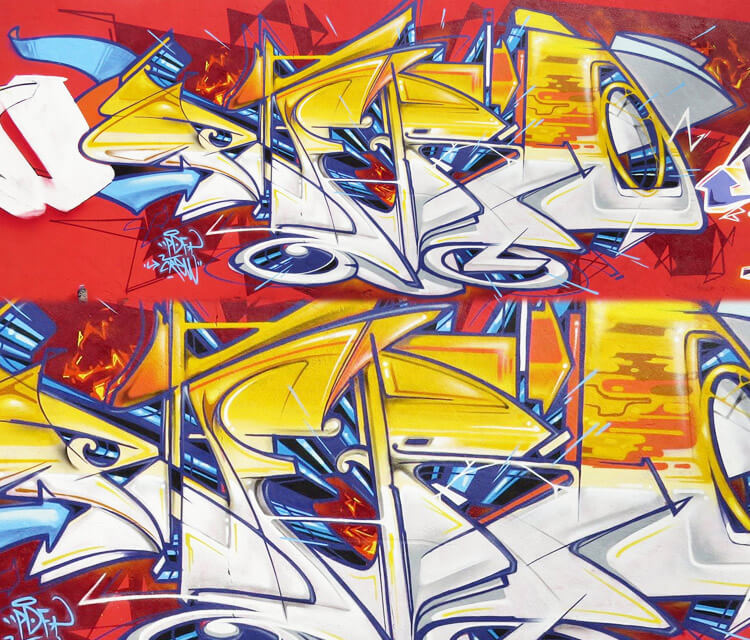 Letter day graffiti by Fhero Art