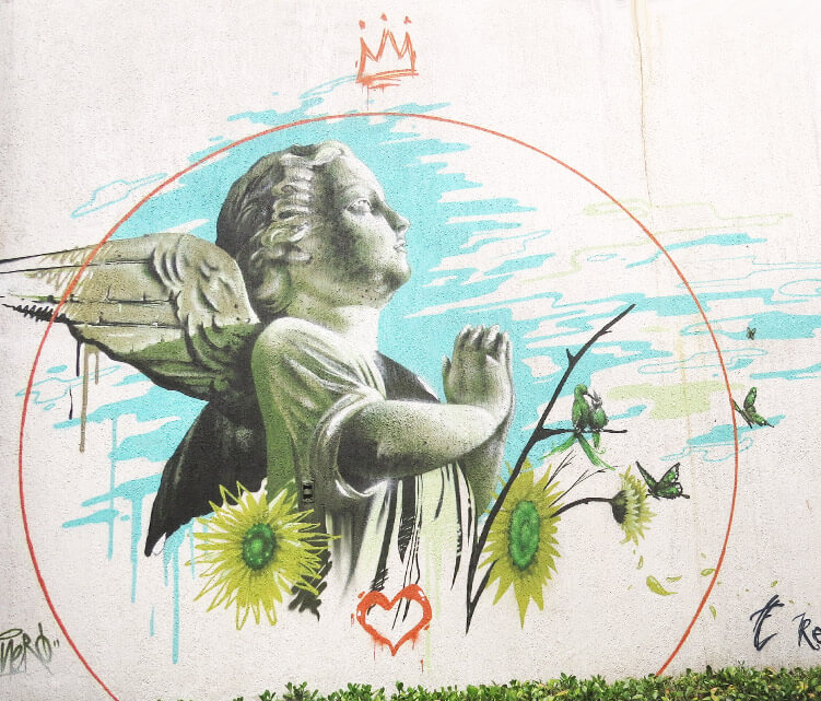 Little angel streetart by Fhero Art