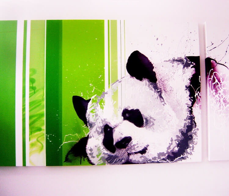Sleeping panda mixedmedia by Fhero Art