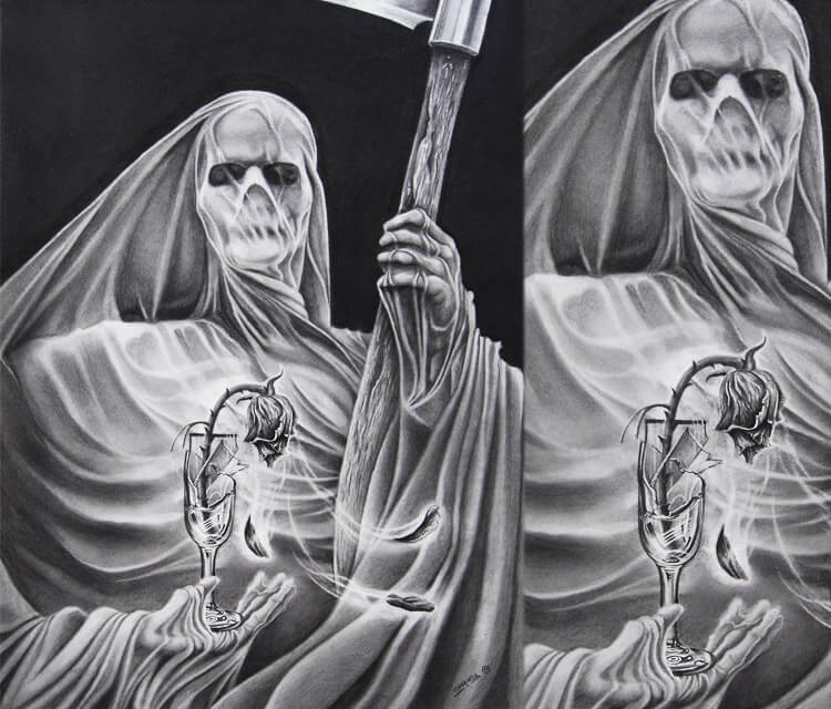 Love dead drawing by Garvel Art