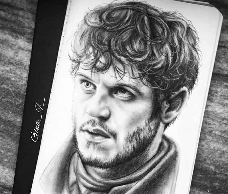 Ramsay Bolton pencil drawing by Gina Friderici