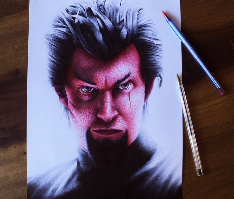 Azazel from X Men pencil drawing by Guilherme Silveira