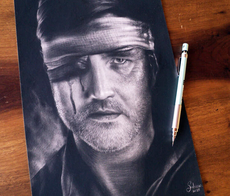 Governor portrait drawing by Guilherme Silveira