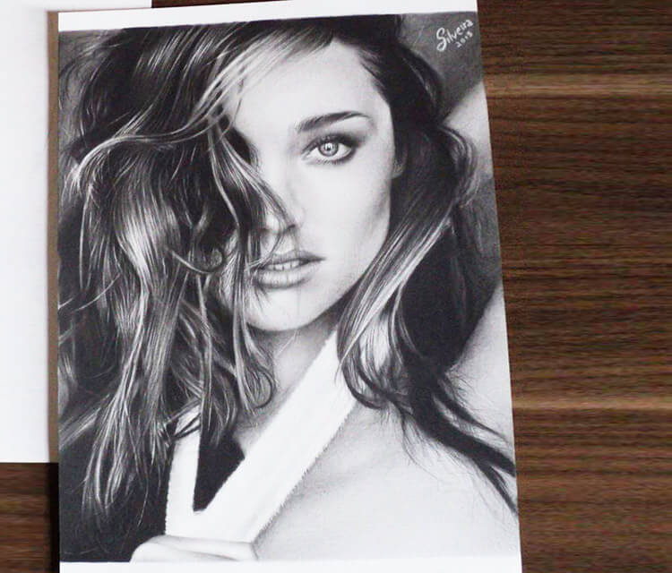Miranda Kerr drawing by Guilherme Silveira