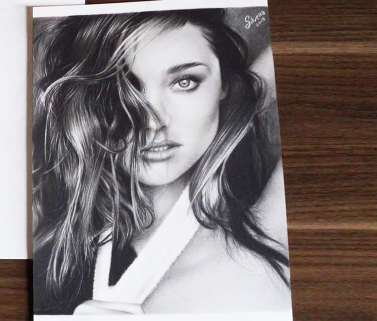 Miranda Kerr drawing by Guilherme Silveira