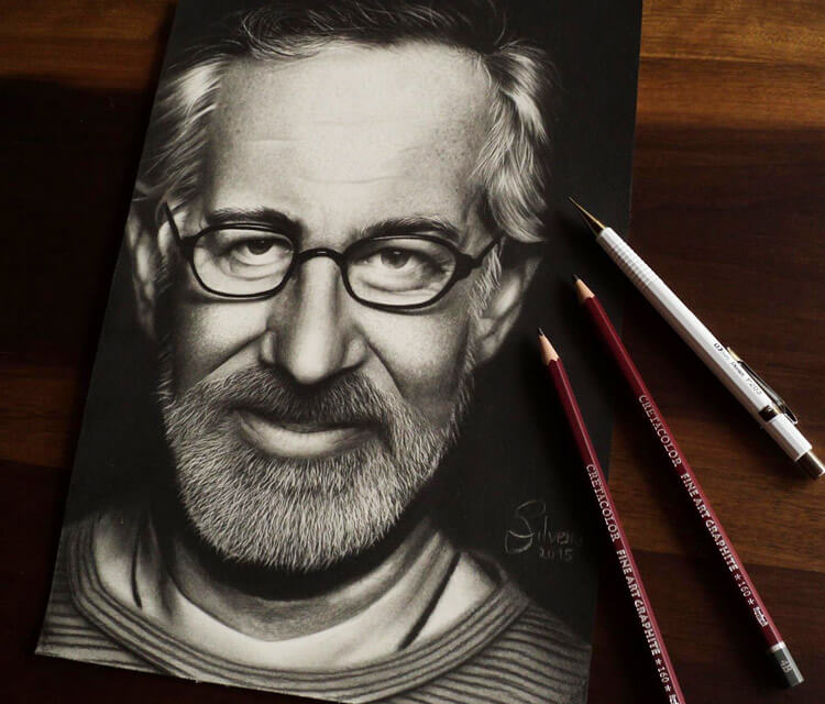 Steven Spielberg drawing by Guilherme Silveira