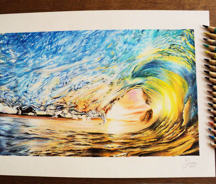 Sun and Wave drawing by Guilherme Silveira