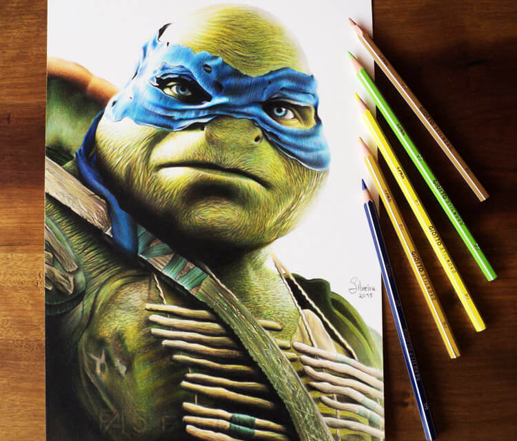 Teenage Mutant Ninja color drawing by Guilherme Silveira