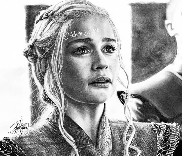 Daenery Targaryen drawing by Helene Kupp