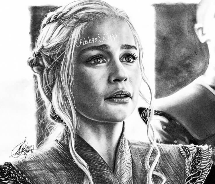 Daenery Targaryen drawing by Helene Kupp