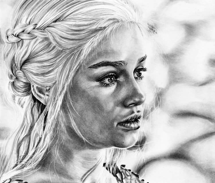 Daenerys Targaryen drawing by Helene Kupp